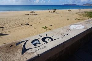 Un clin d'oeil aux copains depuis Porto Santo...