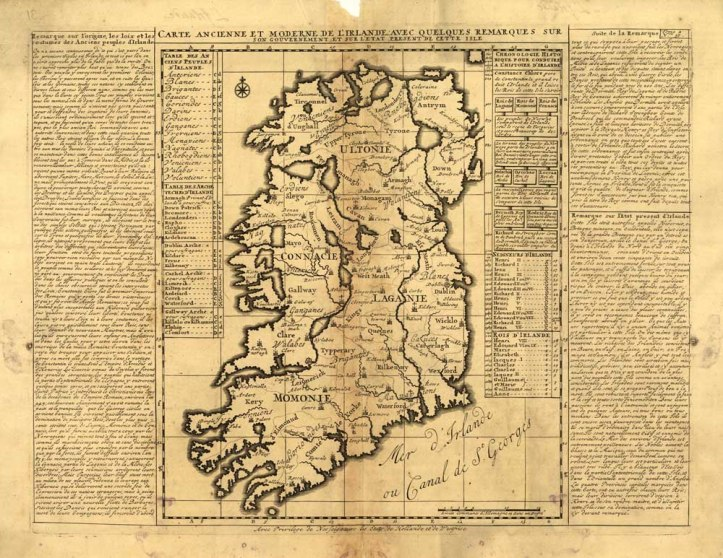 carte d'Irlande